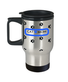 *Attention Cat Moms* Turn your Travel Mug into a Piece of Purrrfect Cat Mom Art! Hint: Perfect Personal Gift for Cat Lovers, Travel Mug, Gearbubble, FamilyTrophy.com - FamilyTrophy.com