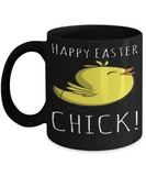 Chicken Easter Mug Easter Lunch Mug Inspiration Mug Black Coffee Cup 2017 2018 Gifts For Him Her Family Grandparent Grandma Granddad Wive Husband Couples Fun Coffee Cups Funny Holiday Sayings Mugs Happy Easter Chick, Coffee Mug, Gearbubble, FamilyTrophy.com - FamilyTrophy.com
