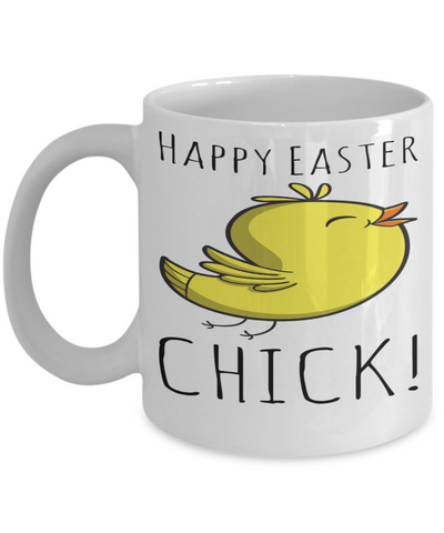 Chicken Mug White Coffee Cup 2017 2018 Gifts For Him Her Family Grandparent Grandma Granddad Wive Husband Couples Fun Coffee Cups Funny Holiday Sayings Mugs Happy Easter Chick, Coffee Mug, Gearbubble, FamilyTrophy.com - FamilyTrophy.com