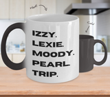 Little Fires Everywhere, Little Fires TV, Little Fires Hulu, Lexie, Trip, Moody, Izzy, Pearl, Bold Print, Typography, Fan, Parody, Magical Color Changing Mug