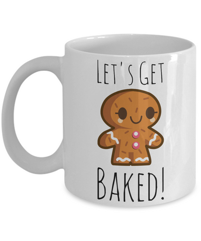 Holiday Baking Morning Coffee Mug - Funny Sayings & Quotes Christmas Gift for Her - Perfect Christmas Gift for Mom, Grandma, Sister & Girlfriend - Cocoa, Milk, Gingerbread, Candy Cane Cup, Coffee Mug, Gearbubble, FamilyTrophy.com - FamilyTrophy.com