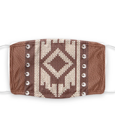 Native American Face Mask for Southern Living - Protection with Filter Pocket & Design for People who Love Indian Themes With Removable Filter