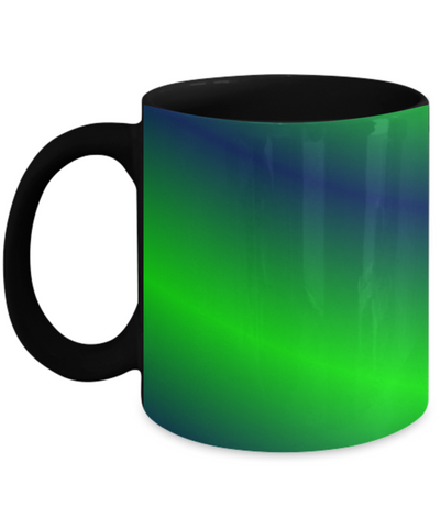 Chartreuse Mug - Chartreuse Alien Green Blue Black Color Coffee Cup To Celebrate Summer 2020 - Chatreuse Design