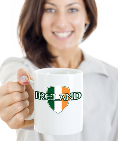 Irish Family Name Personalization Black Ceramic Gift Coffee Mug St. Patrick's Day Gifts Cup For Tea, Coffee & Candy, Coffee Mug, Gearbubble, FamilyTrophy.com - FamilyTrophy.com
