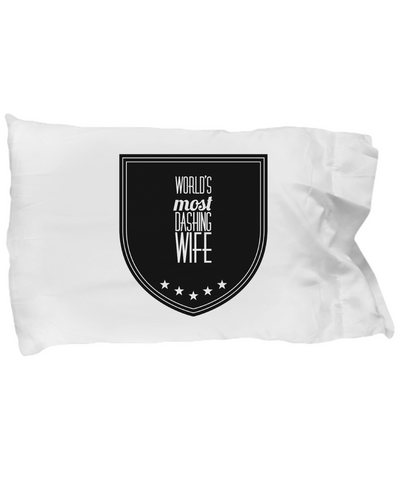 1st Wedding Anniversary Gifts For Her - Best Wife Ever Pillow - Romantic Pillow Case - Decorative Throw Pillow With Quote - Funny Saying Pillow Cases - Quote Bedding Set - Inspirational Quote Throw Pillow Case - Wife Husband Pillow