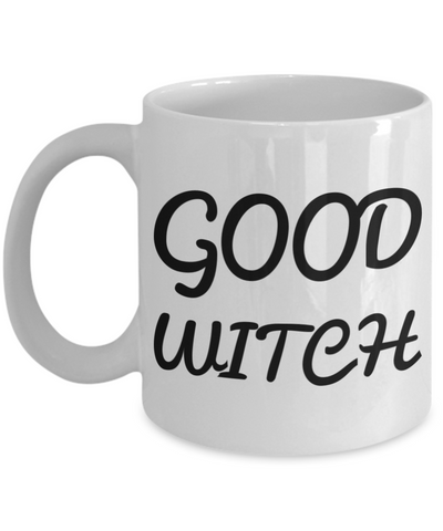 Good Witch Coffee Mug For Women 2017 Holiday Gift Tea Cup Gifts For Her White Ceramic Halloween Mugs Cups Jars For Candy & Coloring Pens, Coffee Mug, Gearbubble, FamilyTrophy.com - FamilyTrophy.com