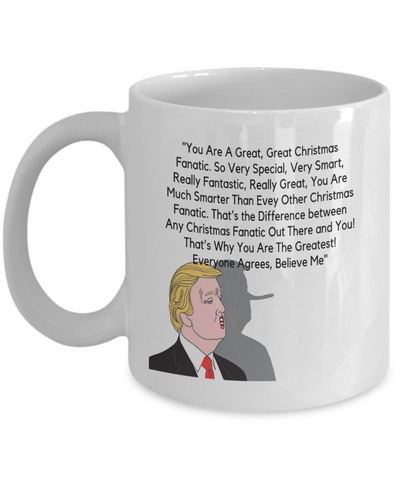 Great Christmas Fanatics Donald Trump Holiday Mug 2018