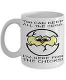 Easter Chick Profanity Mug Cup For Her Him Couples Wife Husband Funny Sayings Easter Gift 2017 2018 Humor Surprise For Coffee, Tea, Cocoa, Chocolate Eggs Vulgar Carrot Bunny Easter Mugs, Coffee Mug, Gearbubble, FamilyTrophy.com - FamilyTrophy.com