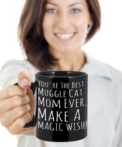 Cat Mug Black Coffee For Kitten Lovers Ideas For Gifts For Cat Muggle Mom Dad Microwave Safe pba Free Ceramic Cup Muggles Kittie Moms, Coffee Mug, Gearbubble, FamilyTrophy.com - FamilyTrophy.com