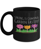 Gardening Spring Mug Black Coffee Cup For Holidays 2017 2018 Gifts For Him Her Family Grandparent Grandma Granddad Wive Husband Couples Funny Sayings Holiday Tea Coffee Mugs Cups For Gardeners, Coffee Mug, Gearbubble, FamilyTrophy.com - FamilyTrophy.com
