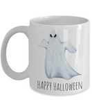 Motivation Happy Halloween Ghost Morning Coffee Mug - Funny Sayings & Quotes Christmas Gift for Boys & Girls - Hot Kid X-Mas Cocoa, Milk, Cookies, Candy Cane & Pencil Cup For Kids, Coffee Mug, Gearbubble, FamilyTrophy.com - FamilyTrophy.com
