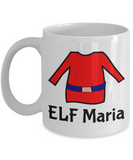 Elf Mug Perfect for Holidays, Birthday, Girls, Boys Gift for Him & Her - Inspirational Santa Humor & Personalized Name Cup - Elf Kid Gifts - Name Personalization Cup For Hot Cocoa, Coffee & Tea, Coffee Mug, Gearbubble, FamilyTrophy.com - FamilyTrophy.com
