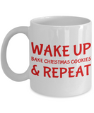 Motivation Christmas Baking Morning Coffee Mug - Funny Sayings & Quotes Christmas Gift fo Mom, Grandma, Girlfriend, Sister - Hot X-Mas Cocoa, Coffee, Tea Cup, Cookies & Pencil Holder, Coffee Mug, Gearbubble, FamilyTrophy.com - FamilyTrophy.com