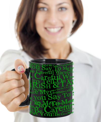 Irish Granddad Coffee Beer Whisky Mug St. Patrick's Day Gifts Cup Black Ceramic For Tea, Coffee & Candy, Coffee Mug, Gearbubble, FamilyTrophy.com - FamilyTrophy.com