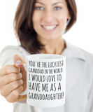 Father's Day Gifts For Grandparents - White Ceramic Mother Day Granddad Cup Tea, Coffee, Cocoa & Cookie Jar Mother's Day Gift Ideas, Coffee Mug, Gearbubble, FamilyTrophy.com - FamilyTrophy.com