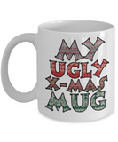 Best Funny Ugly Christmas Cup Gift - 11OZ Pencil Mug - Perfect for Holidays, Birthday, Men, Women, Gift for Him & Her - Fun Inspirational Humor & Ugly Cup for - Cute Personalized & Customized 11 oz Mug For Hot Cocoa, Coffee & Tea - Personalization Gifts, Coffee Mug, Gearbubble, FamilyTrophy.com - FamilyTrophy.com