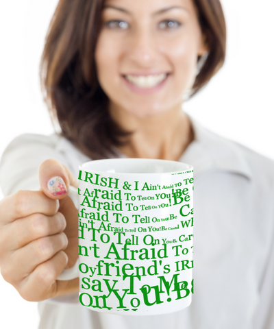 Irish Boyfriend Coffee Mug White Ceramic St. Patrick's Day Gifts Cup For Tea, Coffee & Candy, Coffee Mug, Gearbubble, FamilyTrophy.com - FamilyTrophy.com