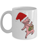 Little Pig X-Mas Inspirational Christmas Story Cup - Cute Fairy Tale Gifts - 11 oz Mug For Hot Cocoa, Coffee, Tea & Pencils!, Coffee Mug, Gearbubble, FamilyTrophy.com - FamilyTrophy.com