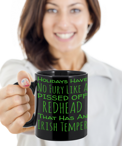 Irish Redhead Coffee Mug St. Patrick's Day Gifts For Her Him St Patrick Day Cup For Tea, Coffee & Candy, Coffee Mug, Gearbubble, FamilyTrophy.com - FamilyTrophy.com