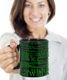Irish Temper Coffee Mug St. Patrick's Day Gifts For Him Her Black Ceramic Cup For Tea, Cocoa, Beer, Whiskey, Coffee Mug, Gearbubble, FamilyTrophy.com - FamilyTrophy.com