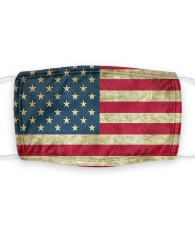 America Independence Day Face Mask - Pro USA, Freedom, Liberty, Victory Theme - Protection With Filter Pocket - Removable Filter