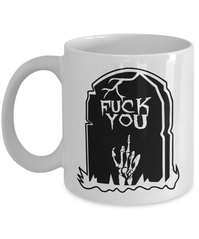 Halloween Coffe Mug Rip Halloween Tea Cup Creepy Ceramic Skull Graveyard Skelleton Candy Gift Mugs & Pencil Holder, Coffee Mug, Gearbubble, FamilyTrophy.com - FamilyTrophy.com