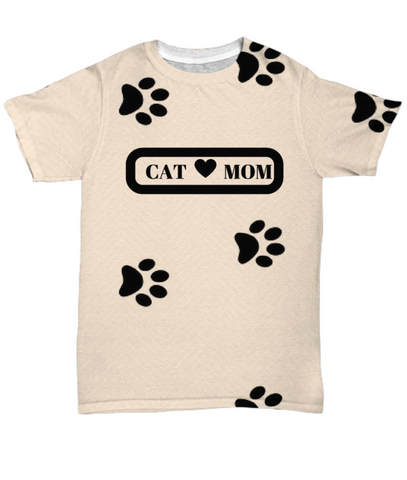 *Attention Cat Moms* Turn your T-Shirt into a Piece of Purrrfect Cat Mom Art! Pawsome  Gift For Cat Lovers, All-Over Print, Gearbubble, FamilyTrophy.com - FamilyTrophy.com