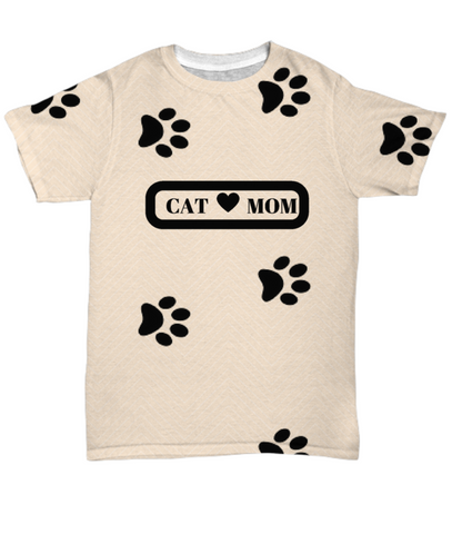 *Attention Cat Moms* Turn your All Over Print Shirt into a Piece of Purrrfect Cat Mom Art!, All-Over Print, Gearbubble, FamilyTrophy.com - FamilyTrophy.com