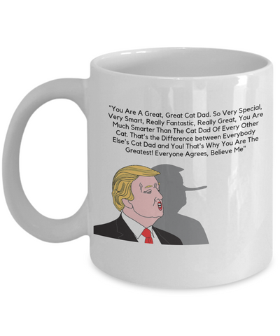 Great Cat Dad Trump Coffee Mug