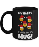 Fun Sayings Happy Mug Gift: Cartoon Cup - Funny Gift For Morning Coffee - Smiley Mug - Holiday Happiness Present - Humor Cup For Hot Cocoa & Tea Lovers, Coffee Mug, Gearbubble, FamilyTrophy.com - FamilyTrophy.com