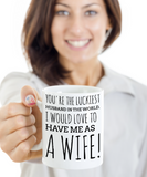 Husband Mugs Gifts For Holidays 2017 2018 - White Ceramic Wife Cup Tea, Coffee, Cocoa & Cookie Jar Gift Ideas For Couples, Coffee Mug, Gearbubble, FamilyTrophy.com - FamilyTrophy.com