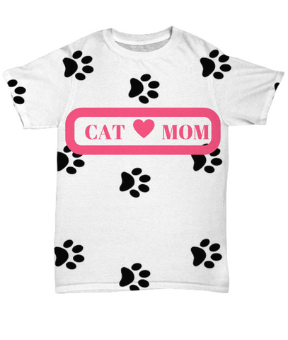 *Attention Cat Moms* Turn your Shirt into a Piece of Purrrfect Cat Mom Art!, All-Over Print, Gearbubble, FamilyTrophy.com - FamilyTrophy.com