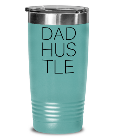 Dad Hustle Coffee & Tea Tumbler Cup Blue for Work At Home Dads - Her Office Cup For Coffee Break - Motivational Gift For Husband