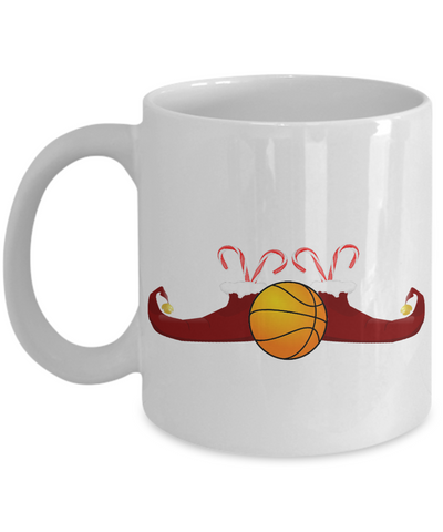 Basketball Elf Candy Christmas Mug - Holidays 2016 Cup for Cocoa!, Coffee Mug, Gearbubble, FamilyTrophy.com - FamilyTrophy.com