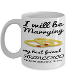 Engagement Fiance Marriage Mug - Valentines Gift For Future Wife - Personalized Vday Engaged Cup - Valentines Best Friend Coffee Cup, Coffee Mug, Gearbubble, FamilyTrophy.com - FamilyTrophy.com