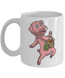 This little pig went to market Inspirational Christmas Story Cup - Cute Fairy Tale Gifts - 11 oz Mug For Hot Cocoa, Coffee, Tea & Pencils!, Coffee Mug, Gearbubble, FamilyTrophy.com - FamilyTrophy.com