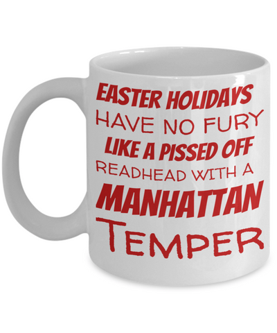 Irish Redhead Coffee Mug Black Ceramic Easter Holidays Gifts For Her Him Manhattan Temper Cup For Tea, Coffee & Candy Easter Pissed Off Redhead, Coffee Mug, Gearbubble, FamilyTrophy.com - FamilyTrophy.com