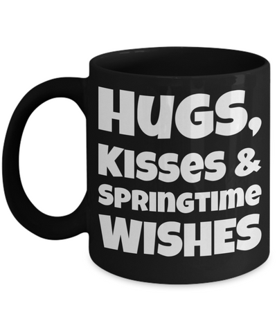 Spring Break Breakfast Mug Black Coffee Cup For Easter Gifts For Family Grandparent Grandma Granddad Wive Husband Him Her Couples Funny Sayings Holiday Tea Coffee Mugs Cups Hugs Kisses Springtime Mugs Holiday Gift 2017 2018, Coffee Mug, Gearbubble, FamilyTrophy.com - FamilyTrophy.com