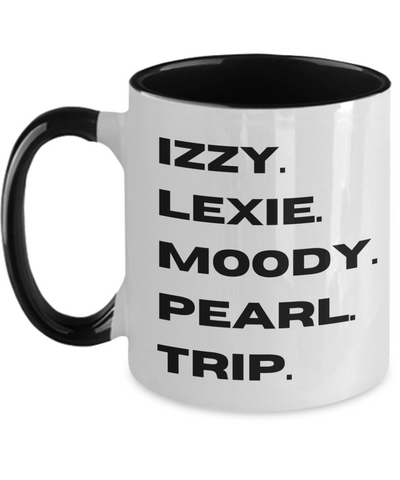 Little Fires Everywhere, Little Fires TV, Little Fires Hulu, Lexie, Trip, Moody, Izzy, Pearl, Bold Print, Typography Fan Two Tone Mug