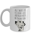 Dalmatian Puppy Mug for Dog Lovers - Cute Inspirational White 11 oz Gift for Dog Moms - Motivational Dog Gift For Her - Funny Hot Cocoa, Coffee, Tea Doggy & Cookie Cup!, Coffee Mug, Gearbubble, FamilyTrophy.com - FamilyTrophy.com