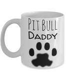 Pitbull Daddy & Dog Parent Mug For Christmas 2016 - Holiday Season Greetings Pit Bull Cup for Coffe & Pencils, Coffee Mug, Gearbubble, FamilyTrophy.com - FamilyTrophy.com