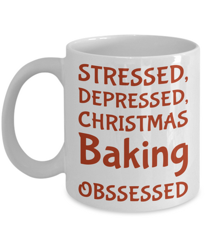 Christmas Baking Mug - Holiday 2016 Funny Sayings Coffee Cup Gift For Her, Coffee Mug, Gearbubble, FamilyTrophy.com - FamilyTrophy.com