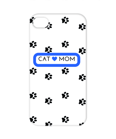 Cat Mom Galaxy 4 white blue white cell phone case, Phone Case, Gearbubble, FamilyTrophy.com - FamilyTrophy.com