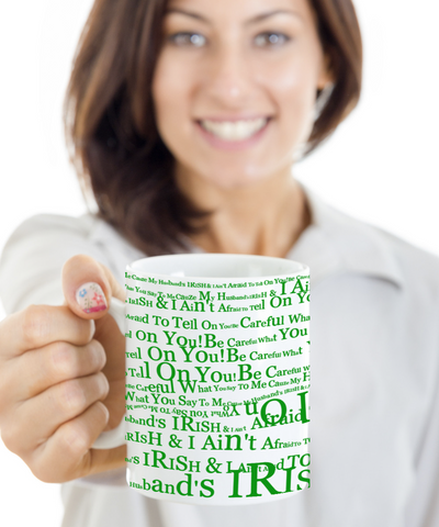 Irish Husband Coffee Mug St. Patrick's Day Gifts Cup For Tea, Coffee & Candy, Coffee Mug, Gearbubble, FamilyTrophy.com - FamilyTrophy.com