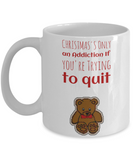 Teddy Bear Christmas Morning Mug - Cute Inspirational White 11 oz Gift for Her & Him - Motivational Funny Sayings & Quote Gift For Mom, Grandma, Sister, Girlfriend - Xmas 2016 Hot Cocoa, Coffee, Tea Cup!, Coffee Mug, Gearbubble, FamilyTrophy.com - FamilyTrophy.com