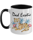 Fathers Day 2020 Mug Dad Exotic - Great Gift For That Special Daddy - Beautiful Father's Holiday Surprise - 11oz Two Tone Cup For Him