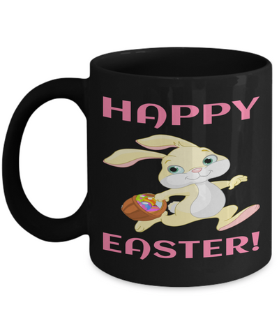 Fun Kid Mug Cup For Children Black Bpa Free Chocolate Cookies Jar Coloring Marker Holder Drink Mugs For Cocoa Milk Juice Best Affordable Holiday Gift For Kids 2017 2018 Happy Easter, Coffee Mug, Gearbubble, FamilyTrophy.com - FamilyTrophy.com