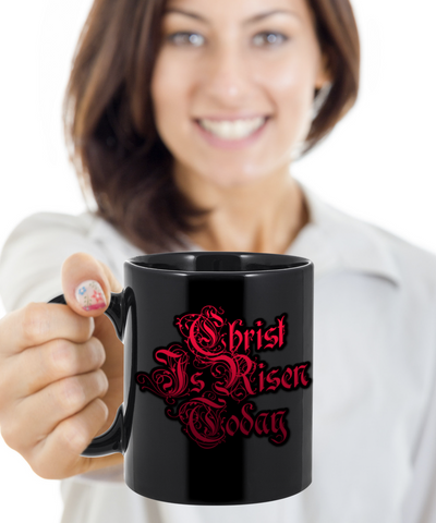 Christ Is Risen Today Christian Jesus Mug Tea Coffee Cocoa Spirituality Cups Christianity Religion Gifts Easter Holidays 2017 2018 Best Gift For Religious Christians Jesus God Mugs, Coffee Mug, Gearbubble, FamilyTrophy.com - FamilyTrophy.com