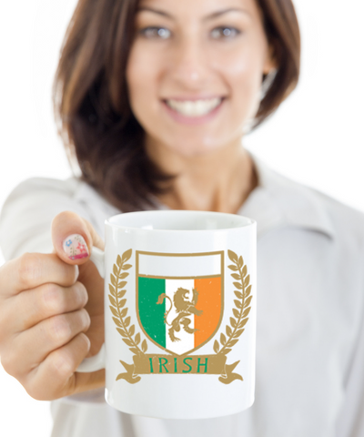 Irish Family Name Personalizion Gift Coffee Mug Black Ceramic St. Patrick's Day Gifts Cup For Tea, Coffee & Candy, Coffee Mug, Gearbubble, FamilyTrophy.com - FamilyTrophy.com