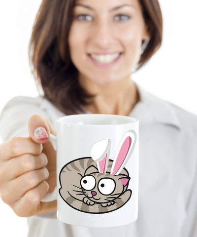 Cat Mug Gift Humor For Grumpy Cat Lovers Chocolate Easter Egg Cup For Kitten Moms Dads Best Present For Easter 2017 2018, Coffee Mug, Gearbubble, FamilyTrophy.com - FamilyTrophy.com
